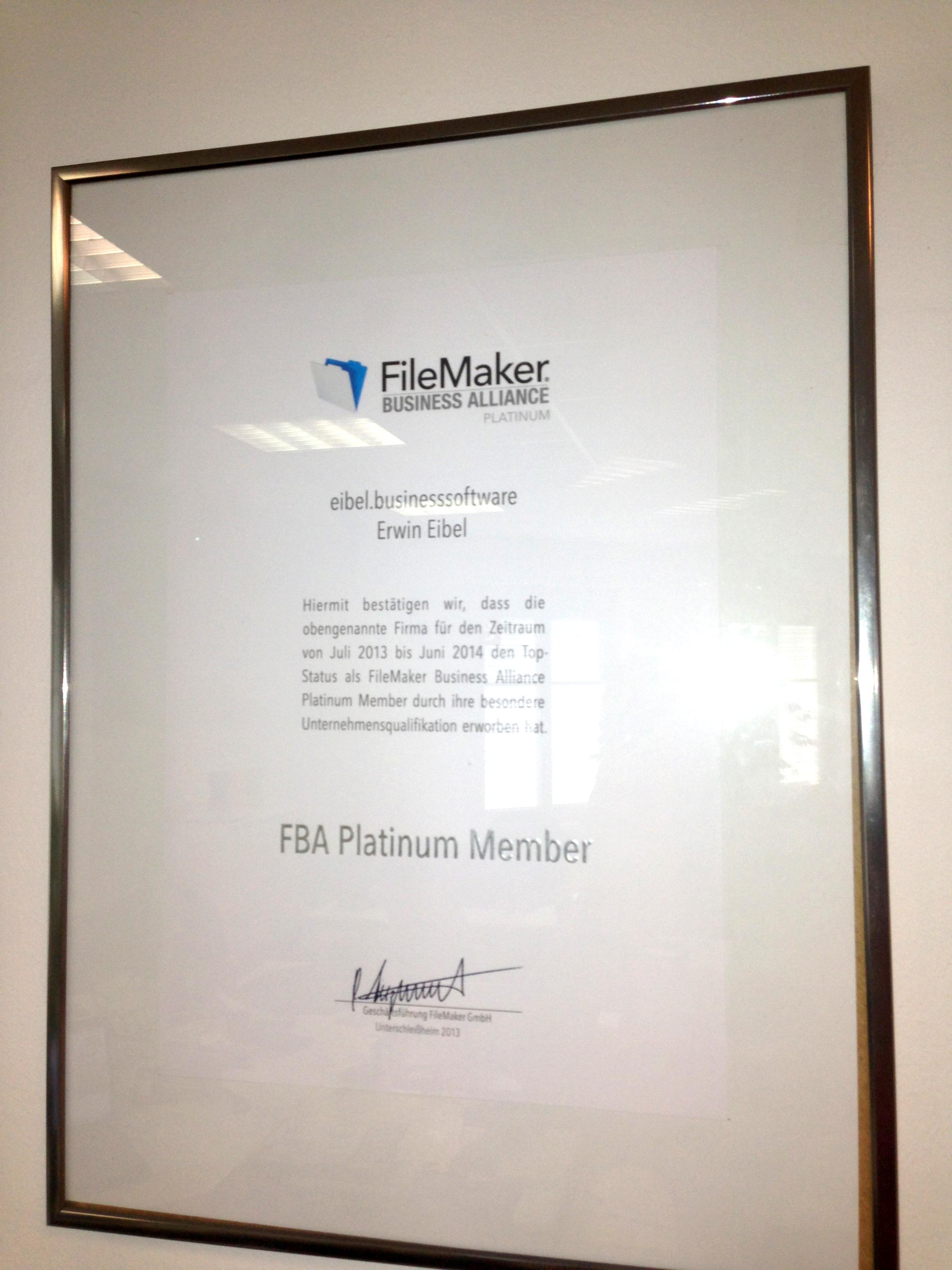 FBA Platinum 2013