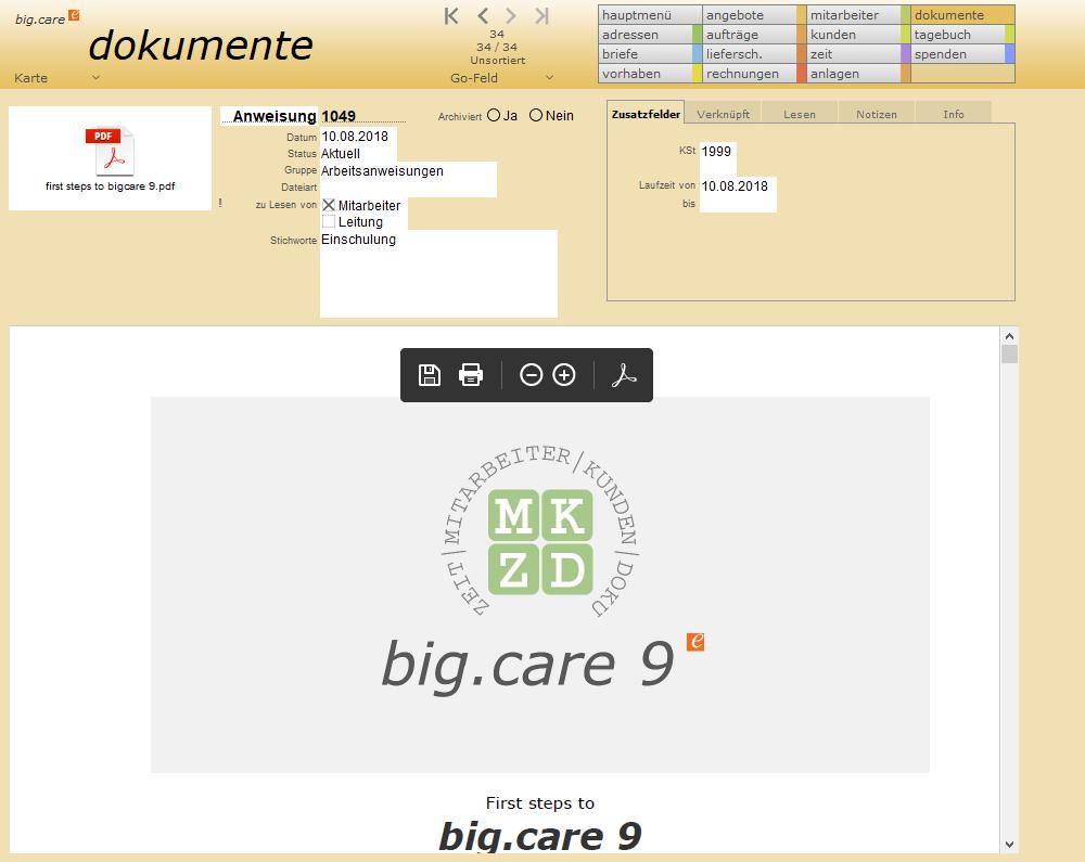 big.care dokumente